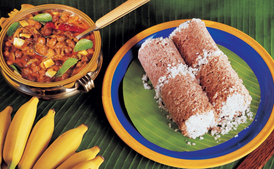 Puttu and Kadala Curry